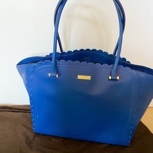 Blue Kate Spade tote with dust bag